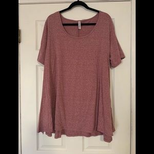 Lularoe perfect jersey knit heathered red